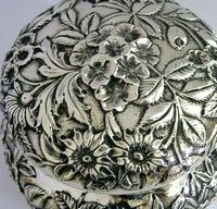 Superb Large American Sterling Silver Pot Box Tea Caddy S Kirk c.1900 (9 of 10)