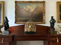 Large Superb Original 19th Century Glass Domed Gilt Mantle Clock For Minor Tlc (3 of 14)