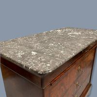 French Marble Top Commode with Writing Surface (2 of 9)