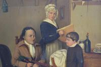 19th Century British Naive School Oil on Panel - Blind Musician (4 of 11)