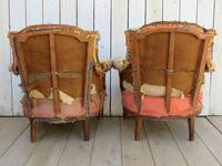 Pair of French Tub Armchairs for re-upholstery (8 of 9)