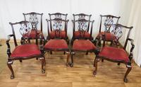 Set of eight Oversized Dining Chairs