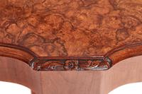 Antique Walnut Carved Dining Table & Set of 8 Carved Dining Chairs (6 of 8)