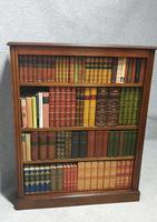 Pair of French Burr Walnut Open Bookcases (12 of 13)