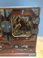 Antique Oriental Lacquered Table Cabinet (3 of 11)