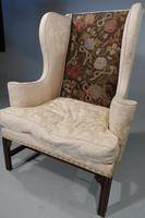 George III Period Mahogany Framed Wing Chair (4 of 5)