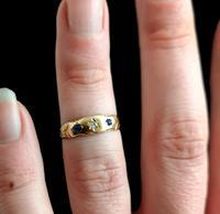 Antique Victorian Sapphire & Diamond Ring, 15ct Gold (12 of 12)
