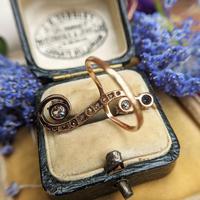 Antique Edwardian 15ct Gold Diamond & Sapphire Upfinger Dress Ring (4 of 12)