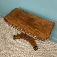Striking William IV Figured Mahogany Antique Card / Games Table (2 of 9)