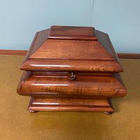 Unusual Victorian Mahogany Antique Tea Caddy (2 of 7)