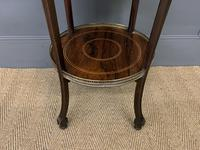 Victorian Inlaid Rosewood Etagere (5 of 9)