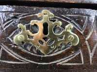 Antique 18th Century Carved Oak Coffer (M-1635) (4 of 13)