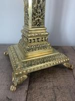 Victorian Pierced Brass Column Table Lamp, Rewired And Pat Tested (10 of 10)