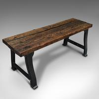 Antique Foundry Table, English, Pine, Iron, Heavy, Industrial Taste, Victorian (7 of 12)