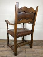 Set of Four Antique Leather Armchairs (3 of 16)