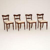 Set of 4 Antique William IV Mahogany Dining Chairs (9 of 10)