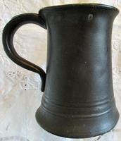Antique English Victorian Pewter Half Pint Concave Mug (3 of 5)