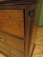 Antique Georgian Country House Oak Chest of Drawers (10 of 22)