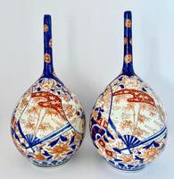 Pair of Imari Bottle Vases c.1900 (3 of 6)