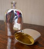 Fine Early Victorian Solid Silver Hip Flask (8 of 8)