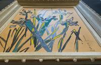 Large Beautiful 1958 Vintage Impressionist Floral Still Life Oil Painting (10 of 12)