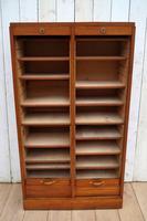 Oak Tambour Filing Cabinet (4 of 8)