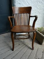 10 1920's Solid Oak Chairs (2 of 7)