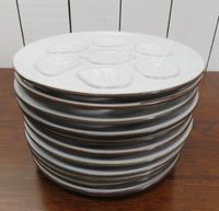 Set of Twelve Vintage Oyster Plates (3 of 6)