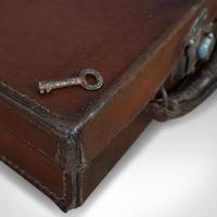 Antique Suitcase, English, Leather, Travelling Sample Case, Edwardian c.1910 (7 of 10)