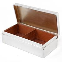 Adie Brothers Silver Cigar or Cigarette Box with a Hinged Crested Solid Lid (3 of 5)