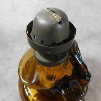 Art Nouveau, Amber Glass, Chamber Lamp (17 of 21)