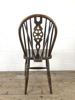 Set of Six 20th Century Wheelback Chairs including Two Carvers (18 of 20)