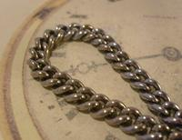 Antique Pocket Watch Chain 1890s Victorian Steel Albert With Horses Snaffle Bit (8 of 12)