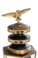 Pair of Well Patinated Bronze & Gilt Bronze Coach Lamps (8 of 9)