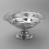 Very Fine Solid Silver Pedestal Pierced Bowl / Basket - Chester c.1937 (3 of 7)
