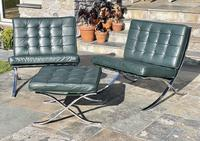 Pair of Barcelona Chairs & Ottoman (27 of 30)
