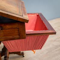 Victorian Leather Top Work Table (5 of 12)