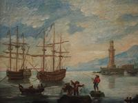 Oil Painting of a Harbour Scene (7 of 11)