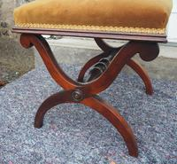 Victorian Rosewood x-frame Stool (4 of 6)
