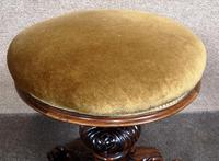 Victorian Rosewood Piano Stool c.1860 (4 of 6)