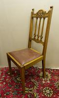 Set of 4 oak Arts & Crafts dining chairs (5 of 5)