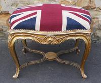 French Giltwood Stool - Union Jack Upholstery