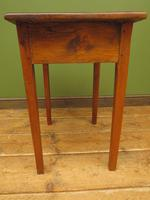 Small Antique Pine Table with Drawer, Very Small Desk (7 of 13)