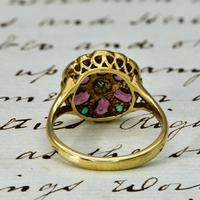 The Vintage Garnet & Emerald Cluster Ring (3 of 3)