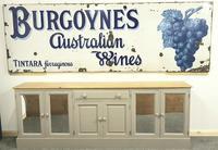 Rare Late Victorian Enamel Burgoynes Australian Wine Sign Extremely Large (8 of 10)