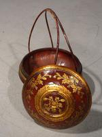 Early 20th Century Domed Topped Food Basket (4 of 5)