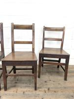 Four 19th Century Oak Back Bar Chairs (5 of 10)