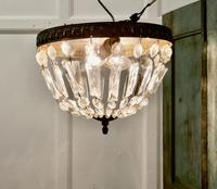 French Empire Style Crystal Basket Chandelier (8 of 19)