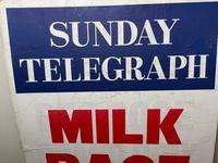 Vintage Advertising Poster Sunday Telegraph Milk Race c.1967 (4 of 23)