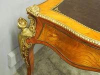 Large French Walnut Bureau Plat / Writing Table (15 of 16)